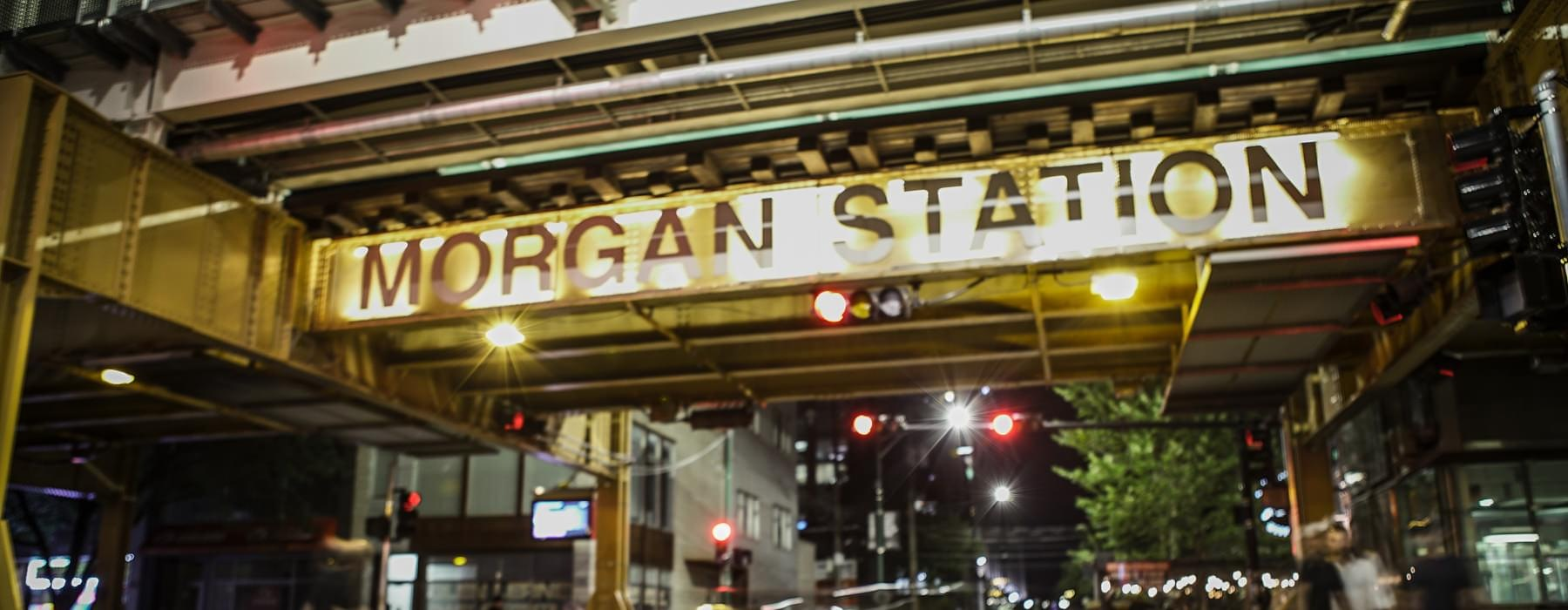 nearby Morgan Station entrance